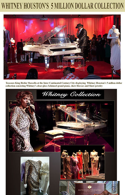 Whitney Houston Piano 5 million dollar collection