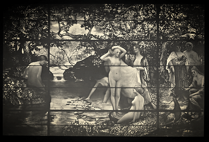 tiffany window the bathers