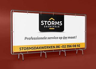 STORMS DAKWERKEN - Banner voor op stelling