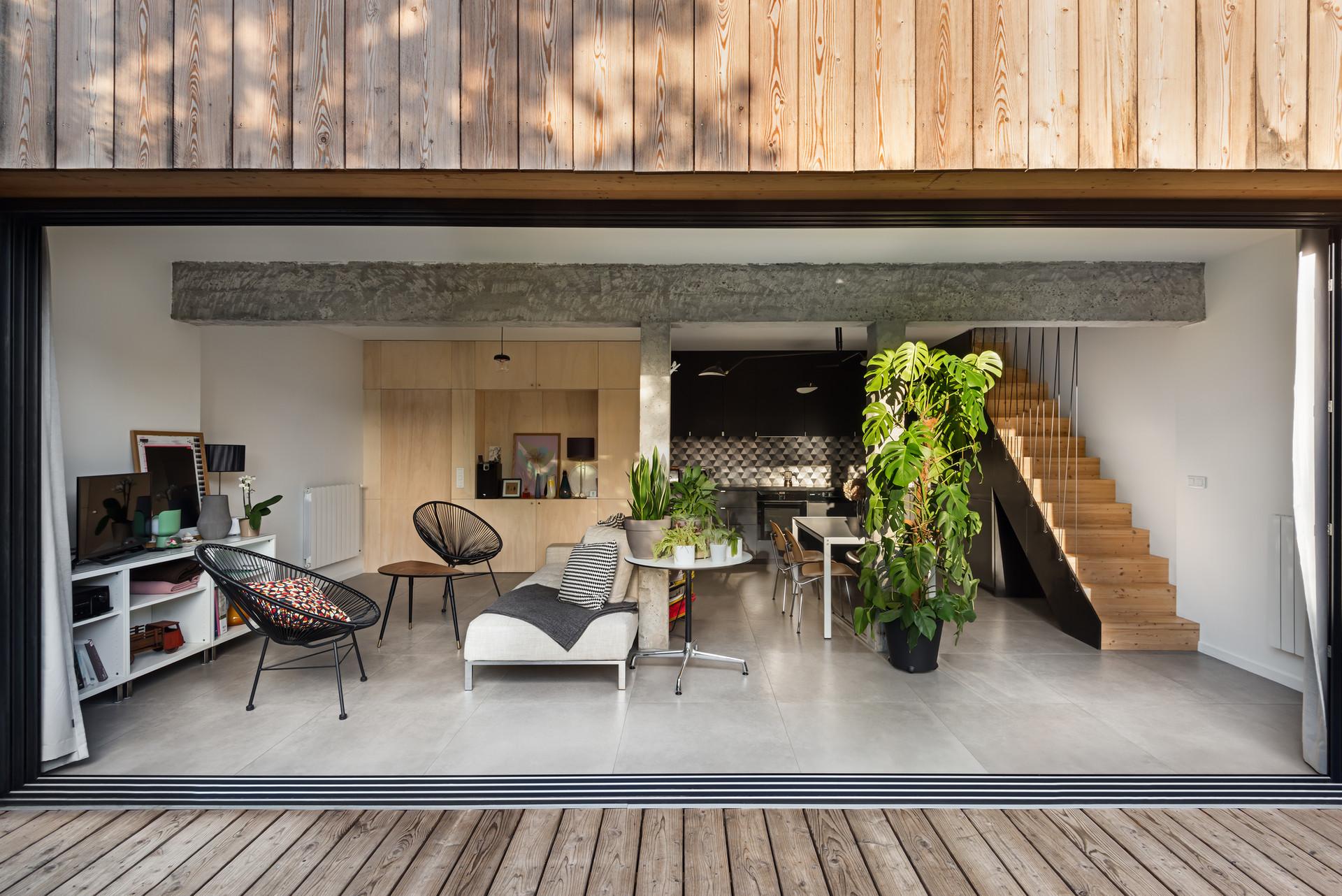 PNT - Projet extension bois baie vitrée
