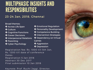 National Conference in Jan'18: Growing Digital World: Multiphasic Insights and Responsibilities