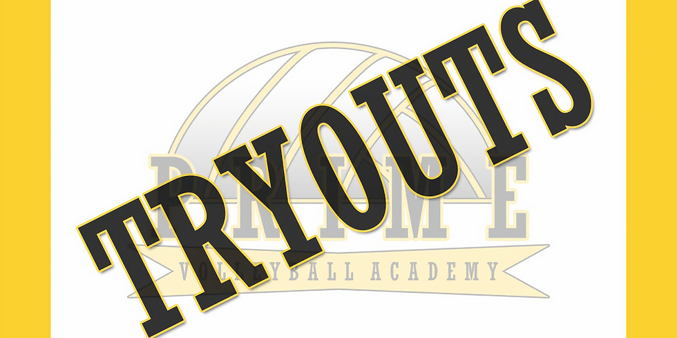 Prime Volleyball Academy 2019-2020 Season Tryouts