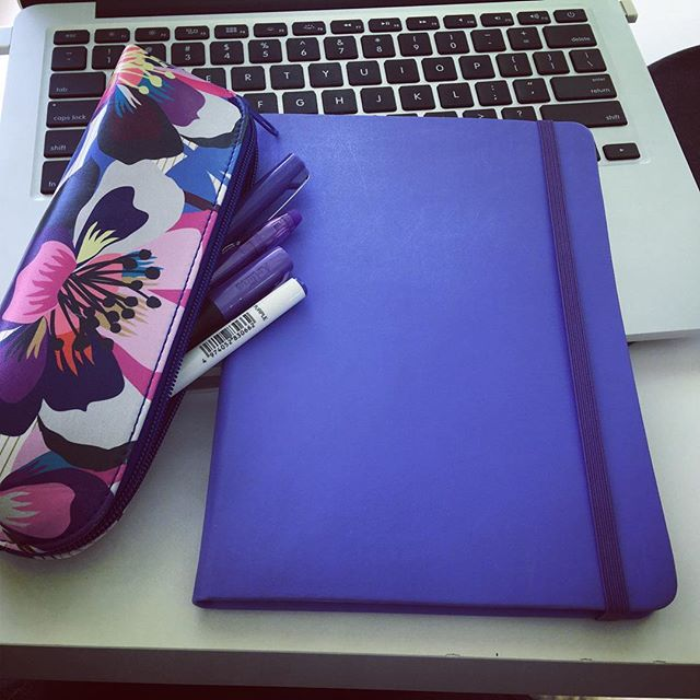 Love my new notebook and jacaranda pens!