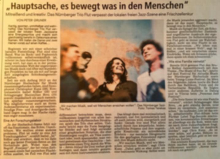 Zeitungsartikel NN Trio Flut