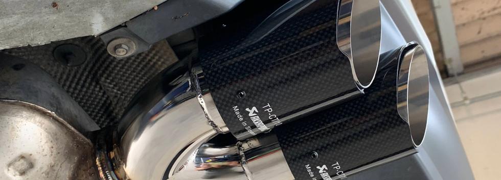 BMW 320i Mスポーツ E90 ワンオフマフラーカッター-③