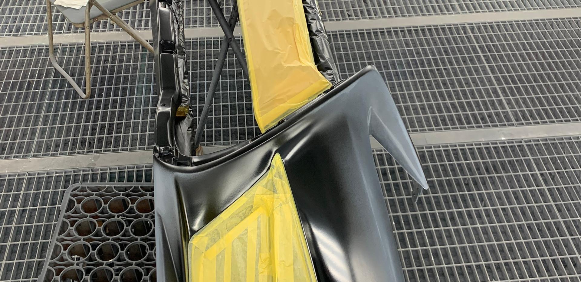 10系レクサスGS-② 塗分け塗装マスキング中