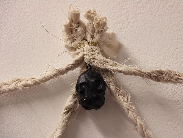 Caitlin Hickling, Woven Effigy detail, Ata and To'o, contemporary art installation, sculpture, Nottingham, Artist, Nottingham Trent University