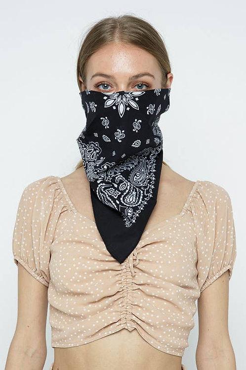 Black and White Bandana/Scarf/Mask