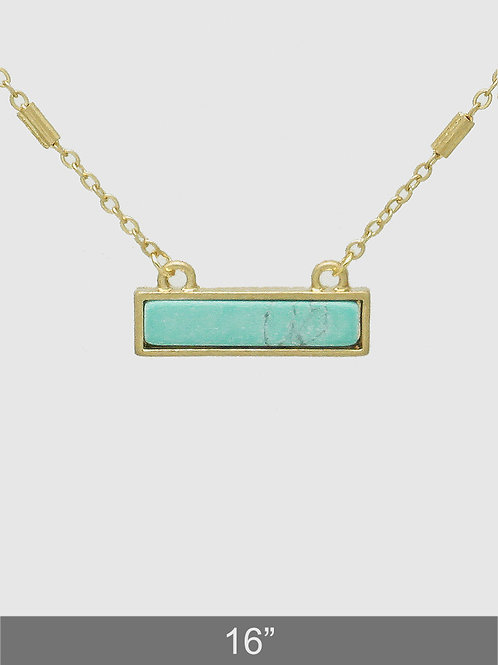 Savannah Turquoise Bar Necklace