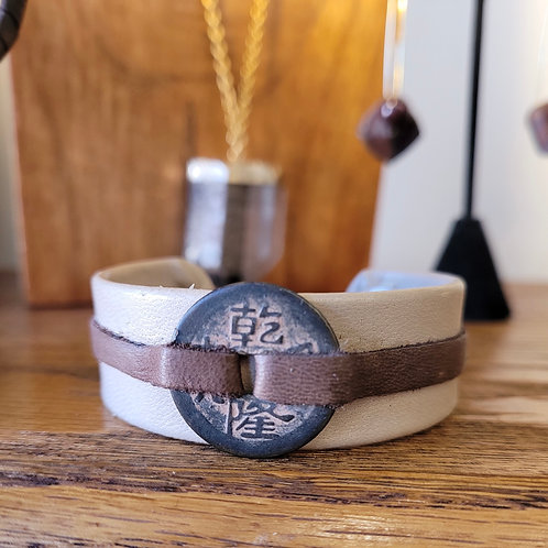 Handcrafted Adjustable Leather Bracelet