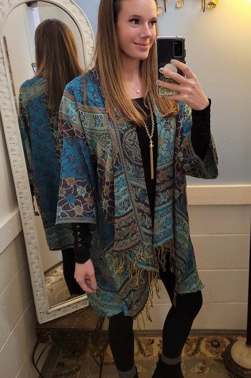 Paparazzi Woven Kimono