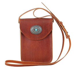 Most Wanted brown conch leather crossbod