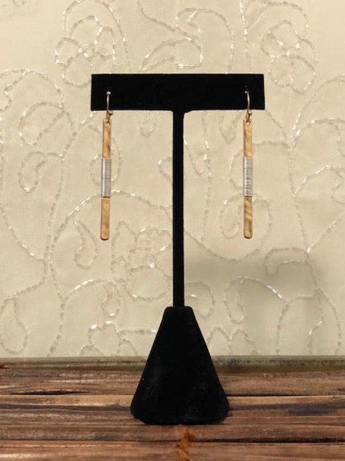 SARAH Gold Matchstick Earrings