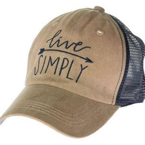 Live Simply Baseball Cap