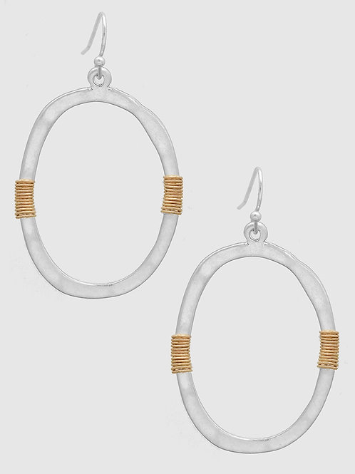 Bella Wrapped Hoop Earrings