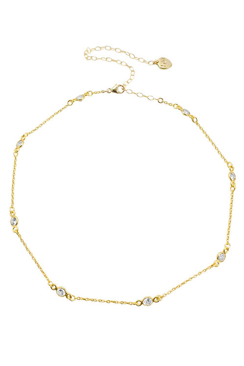 Gold Filled Crystal Chain Choker