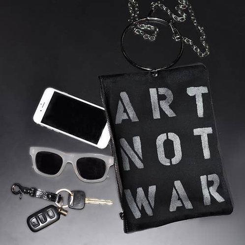 Art Not War Handpainted Crossbody