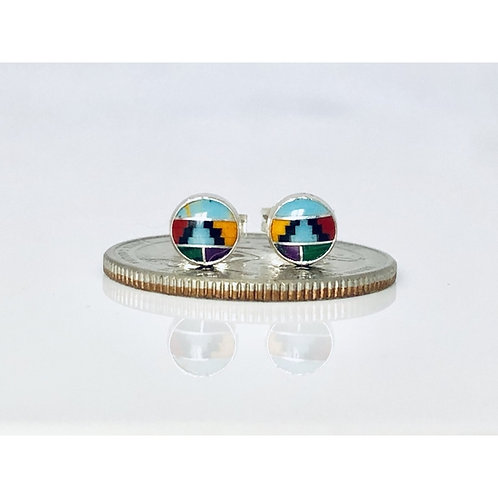 Sterling Round Post Earrings