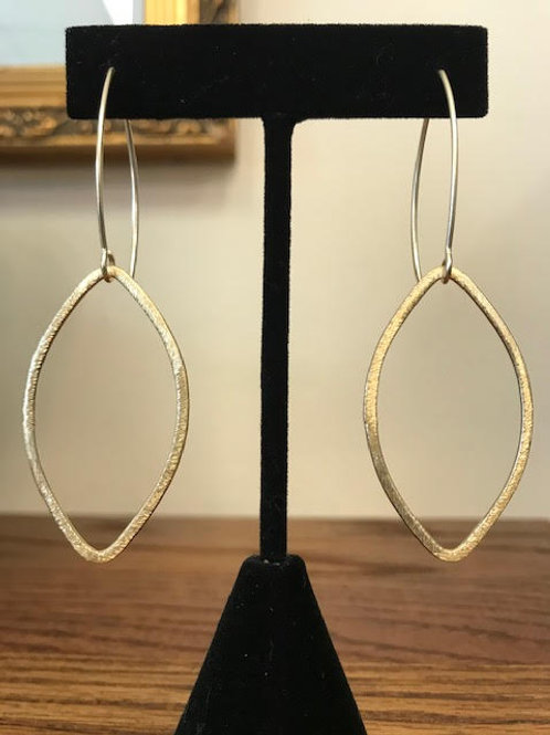 KIMBA Brushed Gold Marquis Earrings