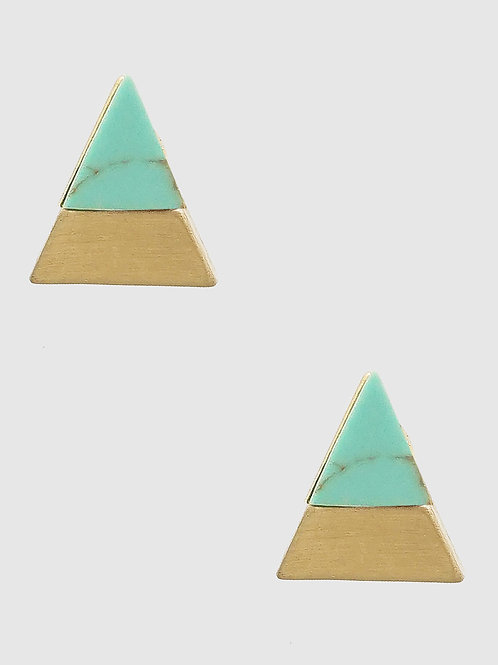 Anna Turquoise and Gold Triangle Posts