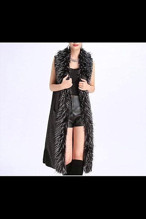 Lexi Faux Fur Long Vest