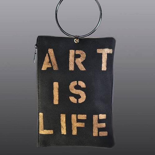 Art Is Life Handpainted Crossbody Bag