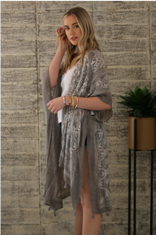Serena Grey/Taupe Kimono