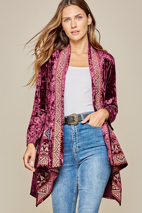 Molly Velvet Kimono