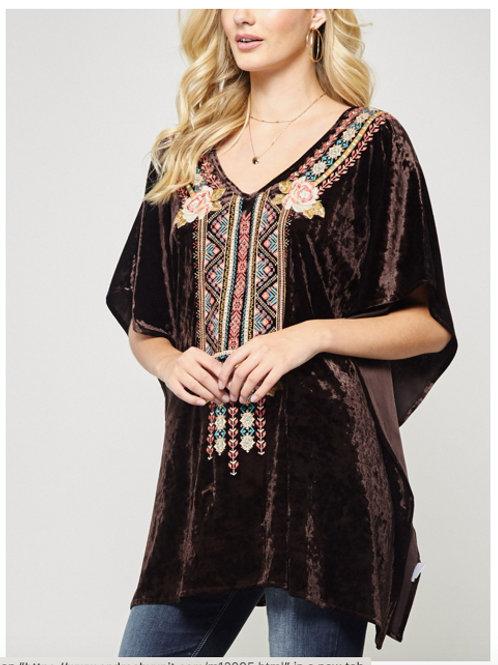 Belinda Velvet Embroidered Tunic