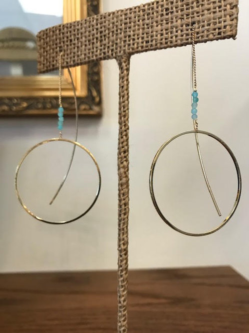 INDIGO Handcrafted Amazonite Threaders