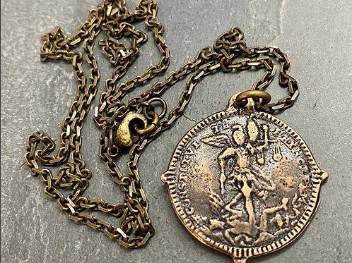 Archangel St. Michael Bronze Necklace