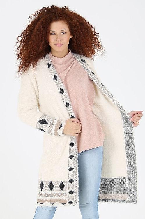 Diamond Furry Cardigan