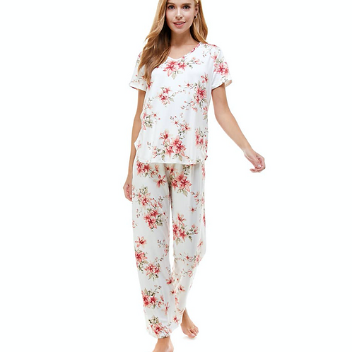 Happy Floral Pajama Set
