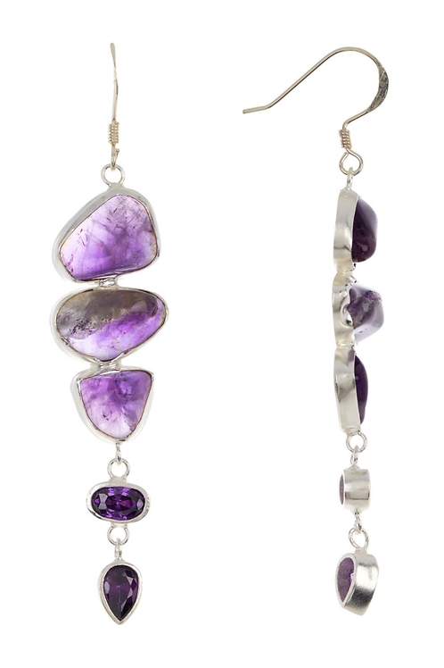 JENNA Sterling Amethyst Earrings