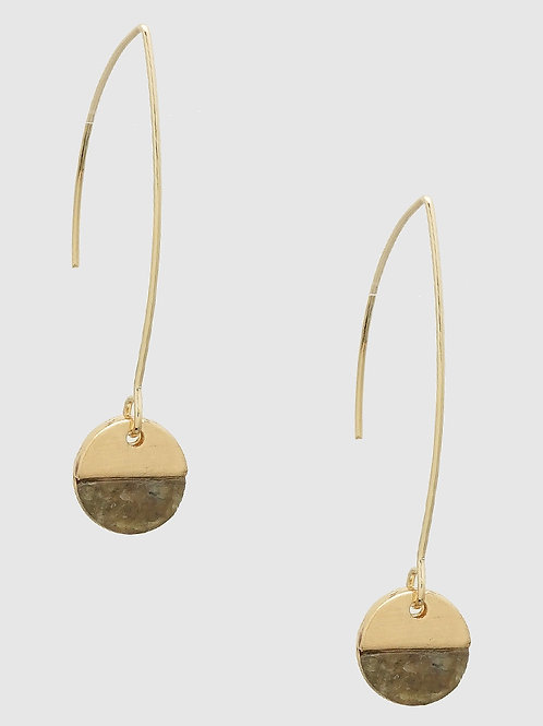 Serena Labradorite and Gold Drop Earrings