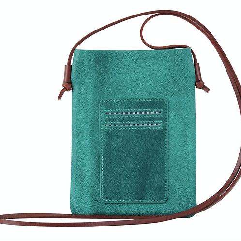 Leather Crossbody - Turquoise
