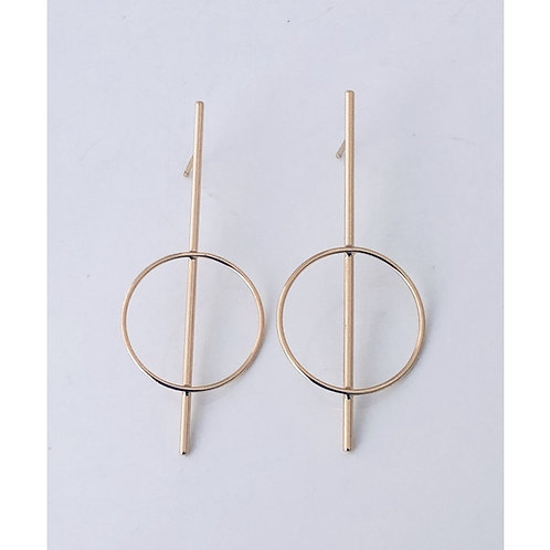 Promise Bar Post Hoop Earrings