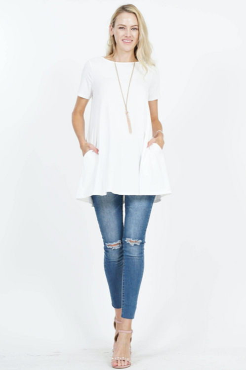The Perfect Pocket Tee - Ivory