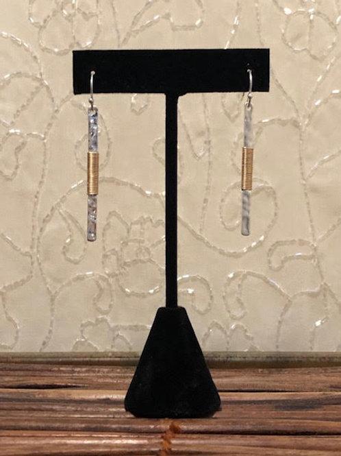 SARAH Silver Matchstick Earrings
