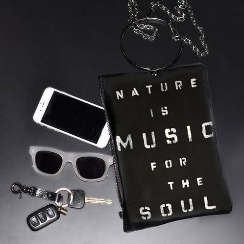 Nature Is Music For The Soul Handpainted Crossbody