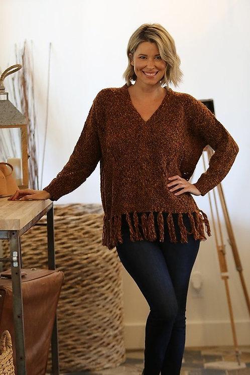 Melanie Fringe Sweater
