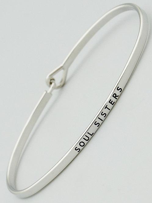 Soul Sisters Silver Cuff Bracelet