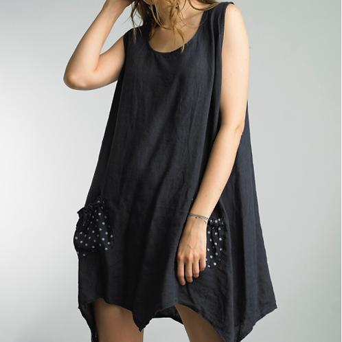 Paige Linen Pocket Dress