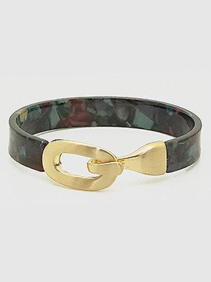 Acetate and Gold Cuff Bracelet