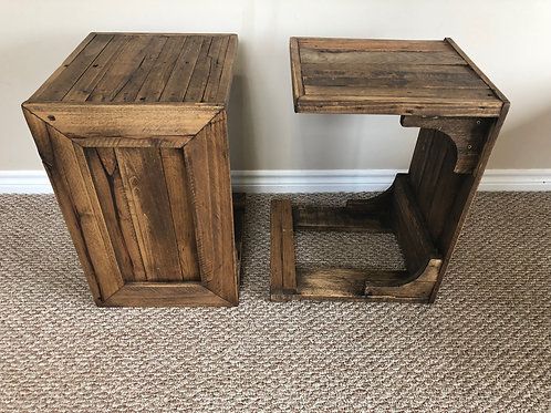 """C is for coffee"" Table - Stained"