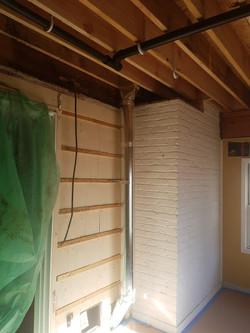Bathroom addition underway