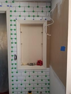 subway tile vanity