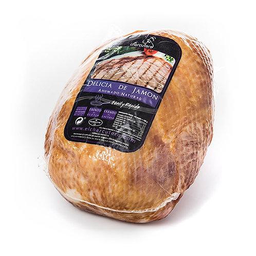 Delicia de Jamón Cocido y Ahumado Natural Sin Hueso. PMG 1,7 kg