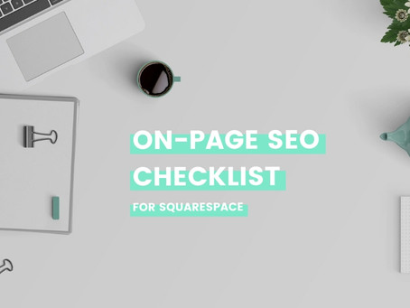 On-page SEO checklist for Squarespace