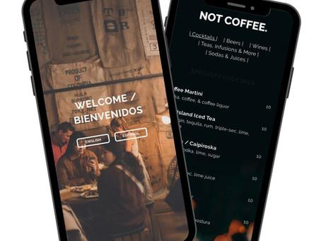 La Bicicleta cafe website design